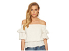 J.O.A. Off the Shoulder Top with Puff Sleeves