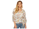 J.O.A. Wrap Top with Tiered Sleeve