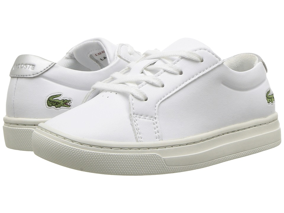 Lacoste Kids - L.12.12 (Toddler/Little Kid) (White/Silver) Kids Shoes