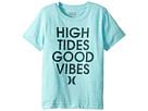 Hurley Kids High Tides Good Vibes Tee (Little Kids)