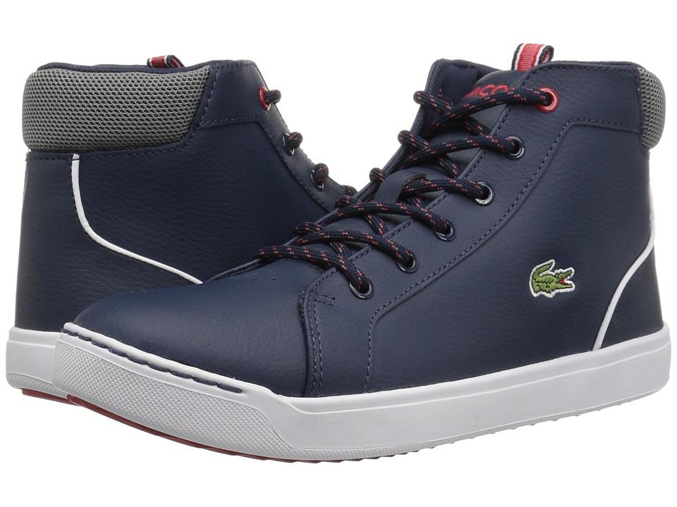 Lacoste Kids - Explorateur 118 1 (Little Kid/Big Kid) (Navy/Grey) Kids Shoes