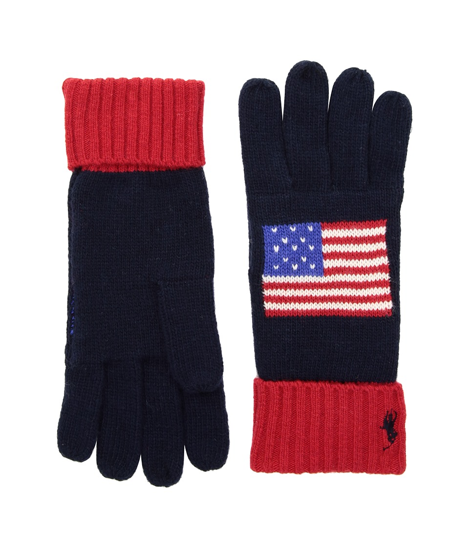 Polo Ralph Lauren USA Polo Gloves (Navy) Extreme Cold Weather Gloves