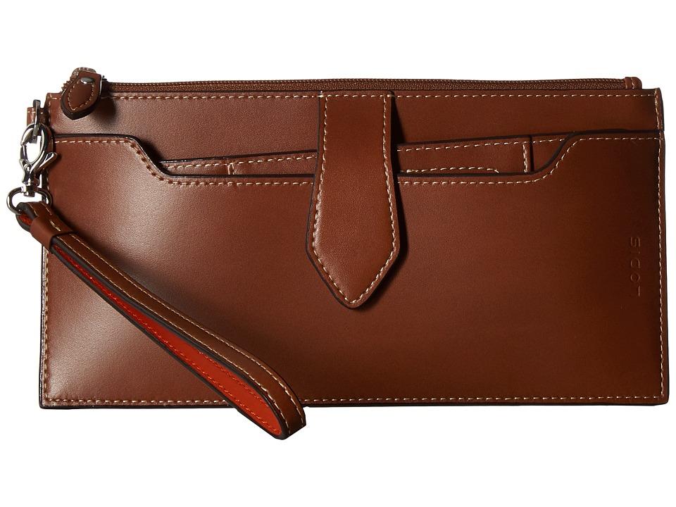 Lodis Accessories - RFID Audrey Queenie Wallet w/ Removable Card Case (Sequoia/Papaya) Wallet Handbags
