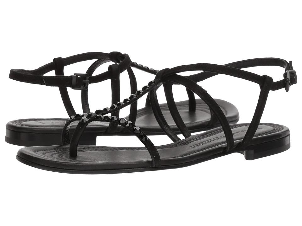 Kennel  +  Schmenger - Elle Strap Sandal (Black Suede/Black) Women's Sandals