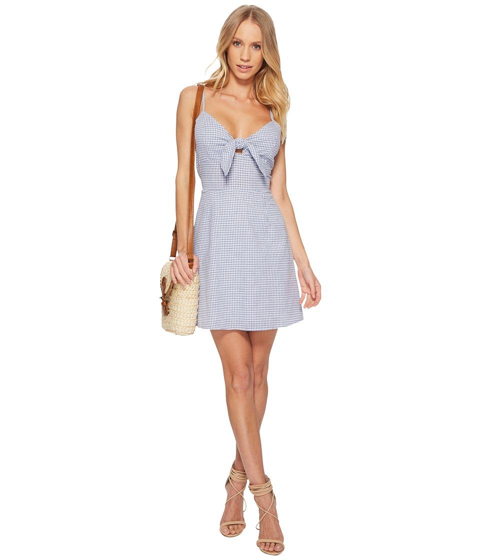 J.O.A. - Tie Front Sleeveless Dress (Blue Gingham) Women'...