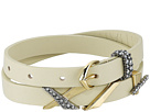 Alexis Bittar Leather Choker/Wrap Bracelet with Crosshatch Pave Charms