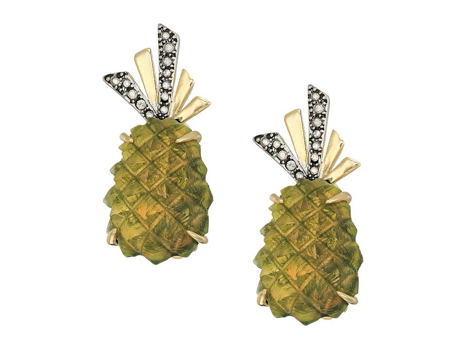 Alexis Bittar - Lucite Pineapple Clip Earrings (Pineapple) Earring