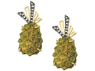 Alexis Bittar Lucite Pineapple Clip Earrings