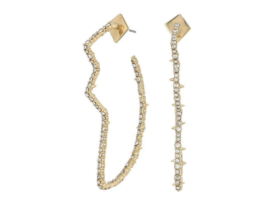 Alexis Bittar - Crystal Encrusted Abstract Tulip Hoop Earrings (10K Gold) Earring