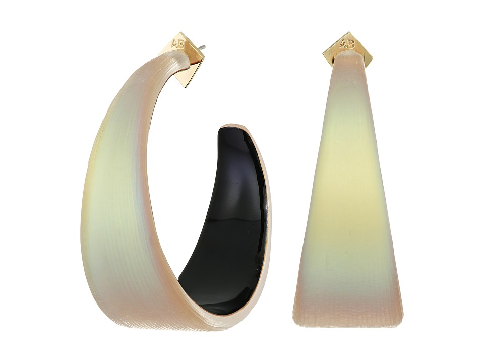 Alexis Bittar - Wide Graduated Medium Hoop Lucite Earrings (New Labradorite) Earring