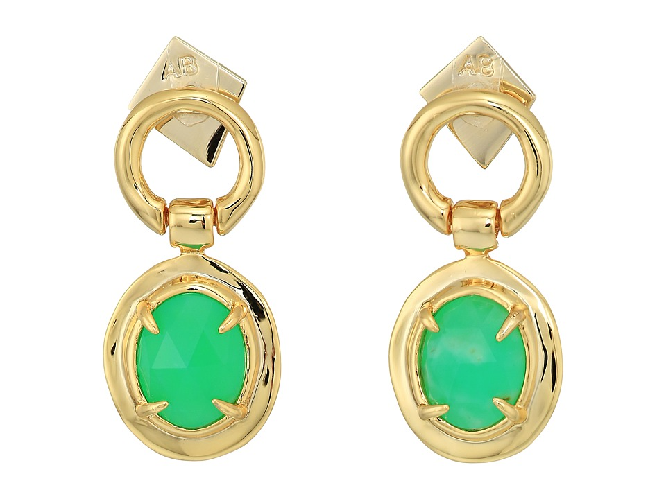 Alexis Bittar - Swinging Stone Seatpost Earrings (10K Gold) Earring