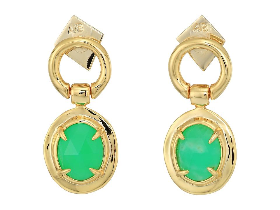 Alexis Bittar - Swinging Stone Seatpost Earrings (10K Gold) Earring