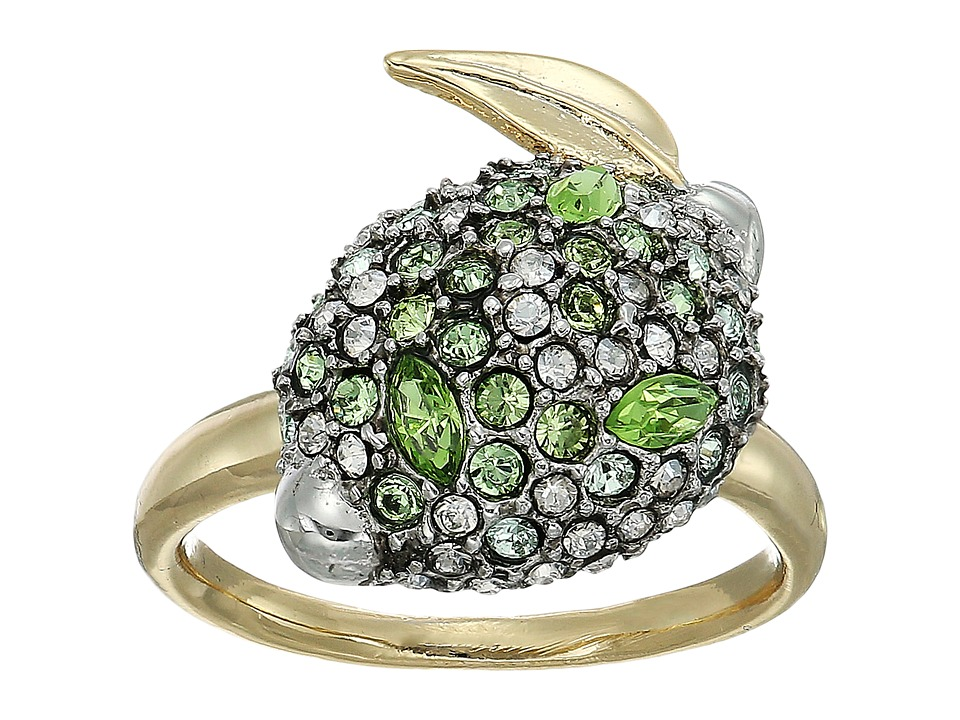 Alexis Bittar - Crystal Encrusted Lime Ring (10K Gold/Antique Rhodium Accents) Ring