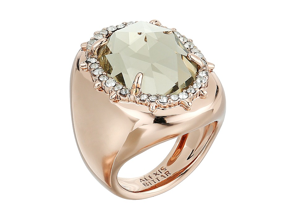 Alexis Bittar - Crystal Encrusted Halo Stone Ring (Rose Gold) Ring