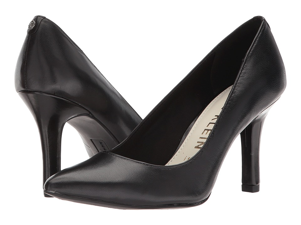 Anne Klein - Faelyn (Black Leather) Womens Shoes