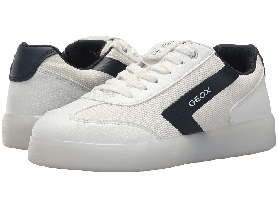 Geox Kids - Kommodorba 4 (Big Kid) (White/Navy) Boys Shoes