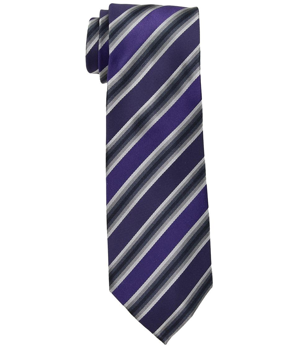 Kenneth Cole Reaction - Tony Stripe (Siberian Purple) Ties