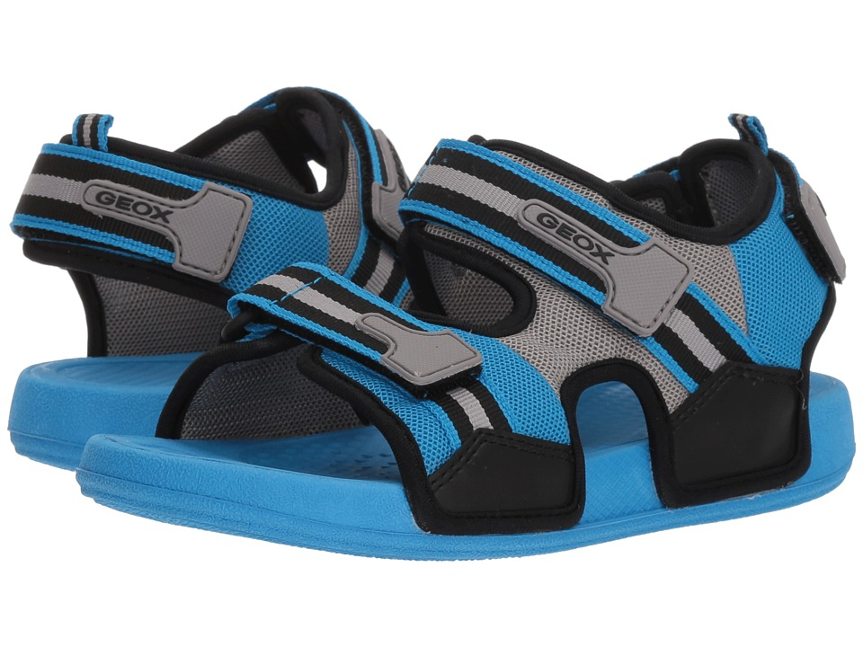 Geox Kids - Ultrak 1 (Little Kid/Big Kid) (Light Blue/Black) Boys Shoes