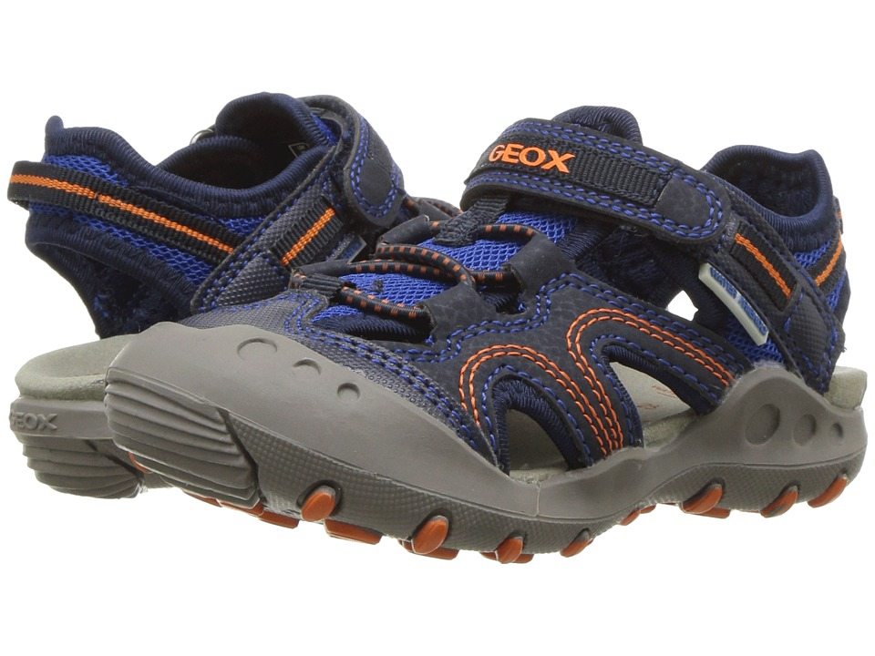 Geox Kids - Kyle 12 (Toddler/Little Kid) (Navy/Orange) Boys Shoes