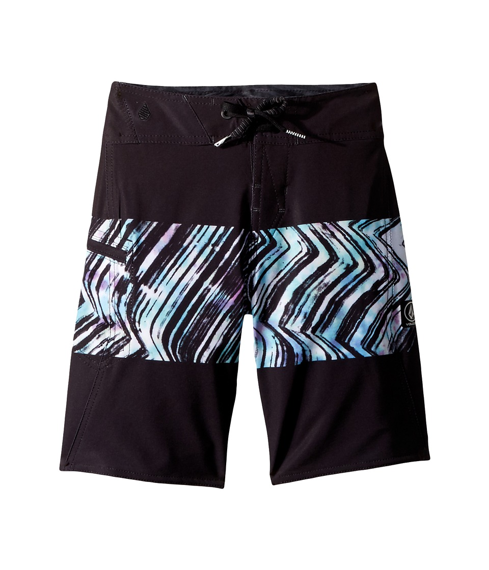 Volcom Kids - Macaw Mod Boardshorts (Big Kids) (Black Combo) Boys Swimwear