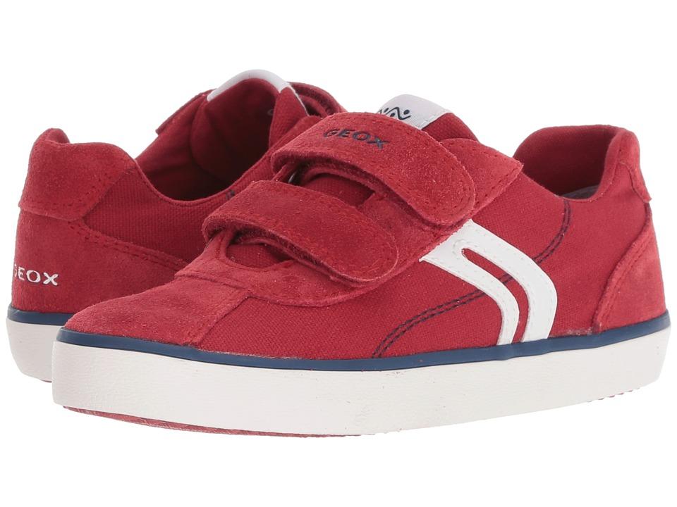 Geox Kids - Kilwi 12 (Little Kid) (Dark Red/Navy) Boys Shoes