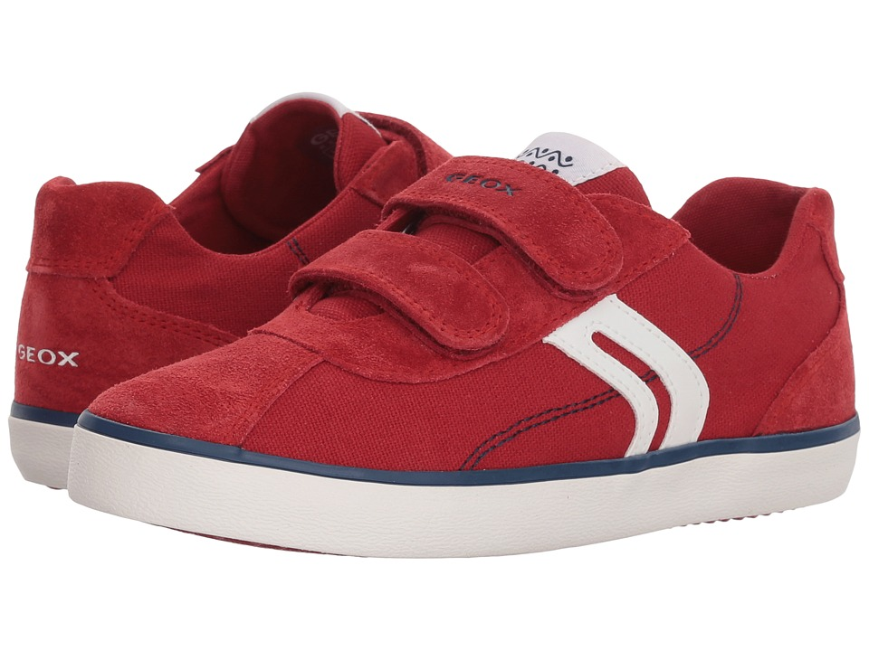 Geox Kids - Kilwi 12 (Little Kid/Big Kid) (Dark Red/Navy) Boys Shoes