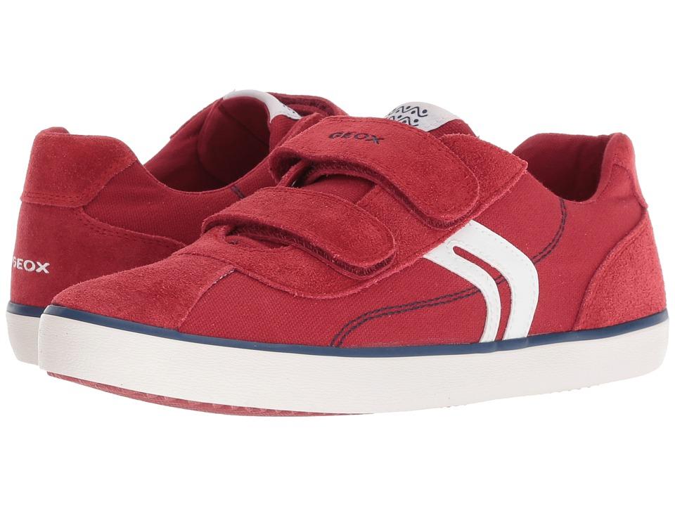 Geox Kids - Kilwi 12 (Big Kid) (Dark Red/Navy) Boys Shoes