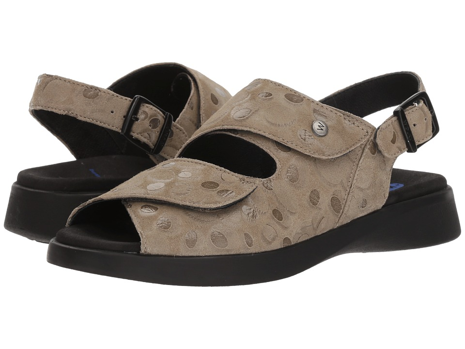 Wolky Nimes (Beige Circles) Sandals