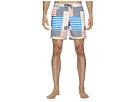Original Penguin 8-Bit Stripe Fixed Volley Stretch Swim Shorts