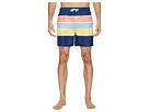 Original Penguin Color Block Stripe Elastic Volley Stretch Swim Shorts