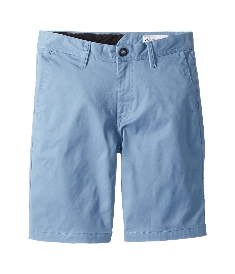 Volcom Kids - Frickin Lightweight Shorts (Big Kids) (Wrecked Indigo) Boys Shorts