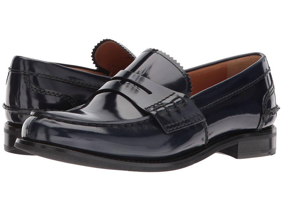 CHURCH'S Pembrey Loafer (Blue) Women's Shoes