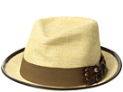 CARLOS by Carlos Santana Matte Toyo Fedora with Feather Bow