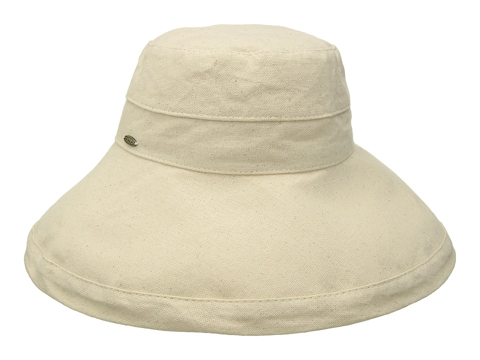 SCALA - Big Brim Cotton Sun Hat (Linen) Caps