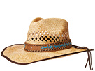 SCALA Raffia Pinch Front Western with Overlay