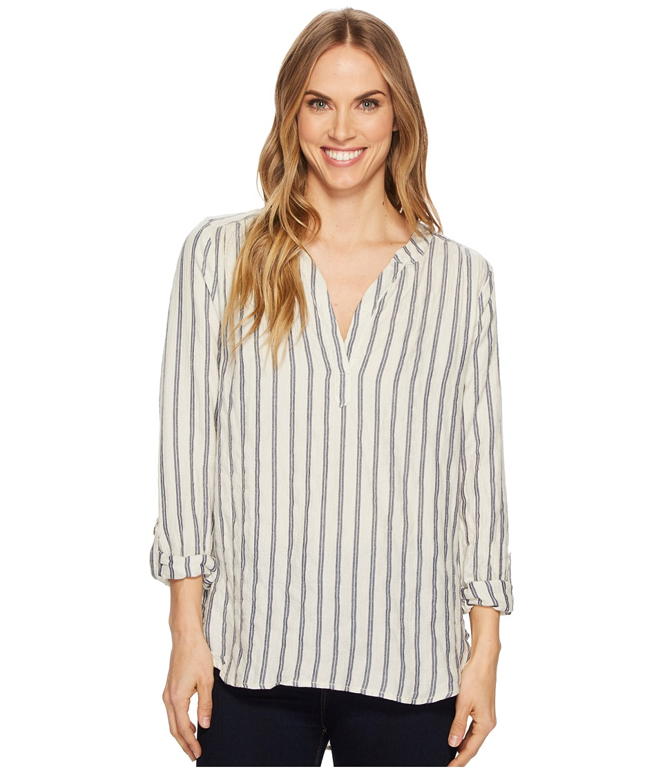 Dylan by True Grit - Farmhouse Stripe Long Sleeve Tunic (Natural) Womens Long Sleeve Pullover