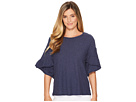 TWO by Vince Camuto Drop Shoulder Tiered Ruffle Sleeve Top