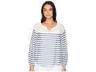 TWO by Vince Camuto Long Sleeve Ladder Stripe Peasant Blouse
