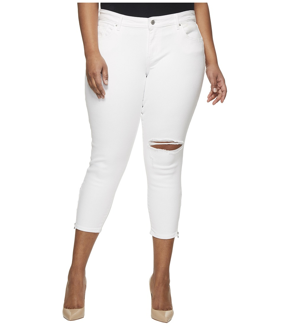 Levis(r) Plus - 711 Ankle Skinny Zip (Wash Out White) Womens Jeans