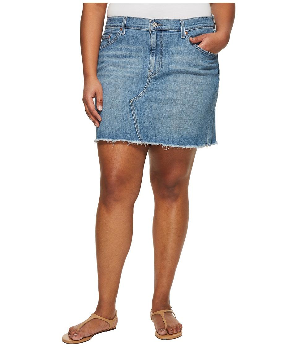 Levis(r) Plus - Deconstructed Skirt (Honeyed Indigo) Womens Skirt