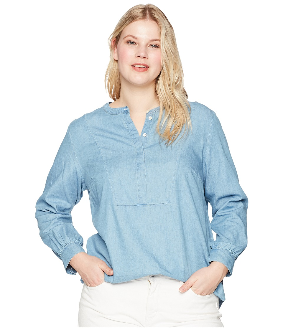 Levis(r) Plus - Sandy Popover with Bib (Medium Authentic) Womens Clothing