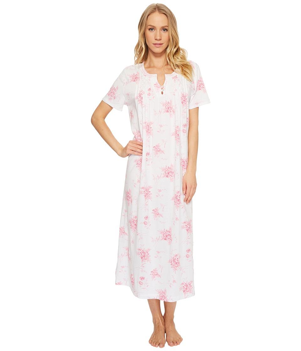 Carole Hochman - Short Sleeve Long Gown (Bouquet Swing) Womens Pajama