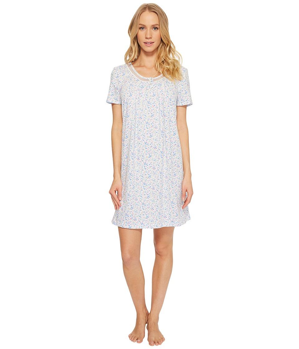 Carole Hochman - Soft Jersey Sleepshirt (Darling Ditsy) Womens Pajama