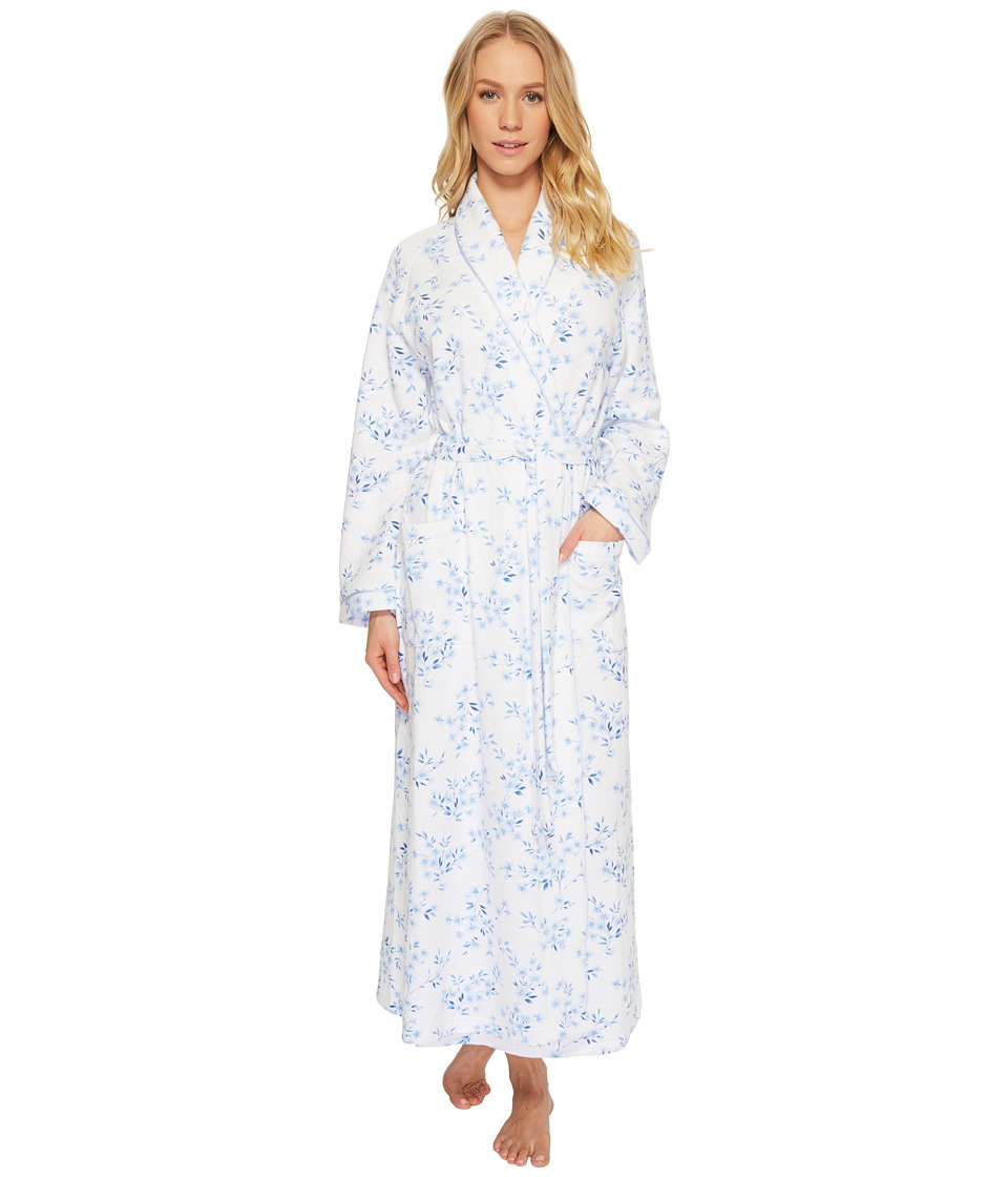 Carole Hochman - Double Diamond Quilt Long Robe (Floral Twin) Womens Pajama