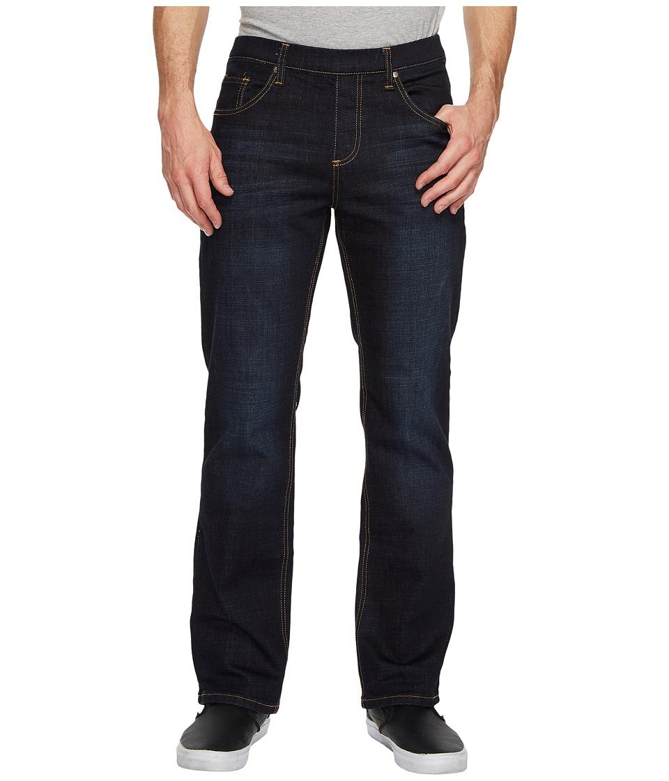 NBZ(r) - Slate Blue Elastic Waist Jeans (Slate Blue) Mens Jeans