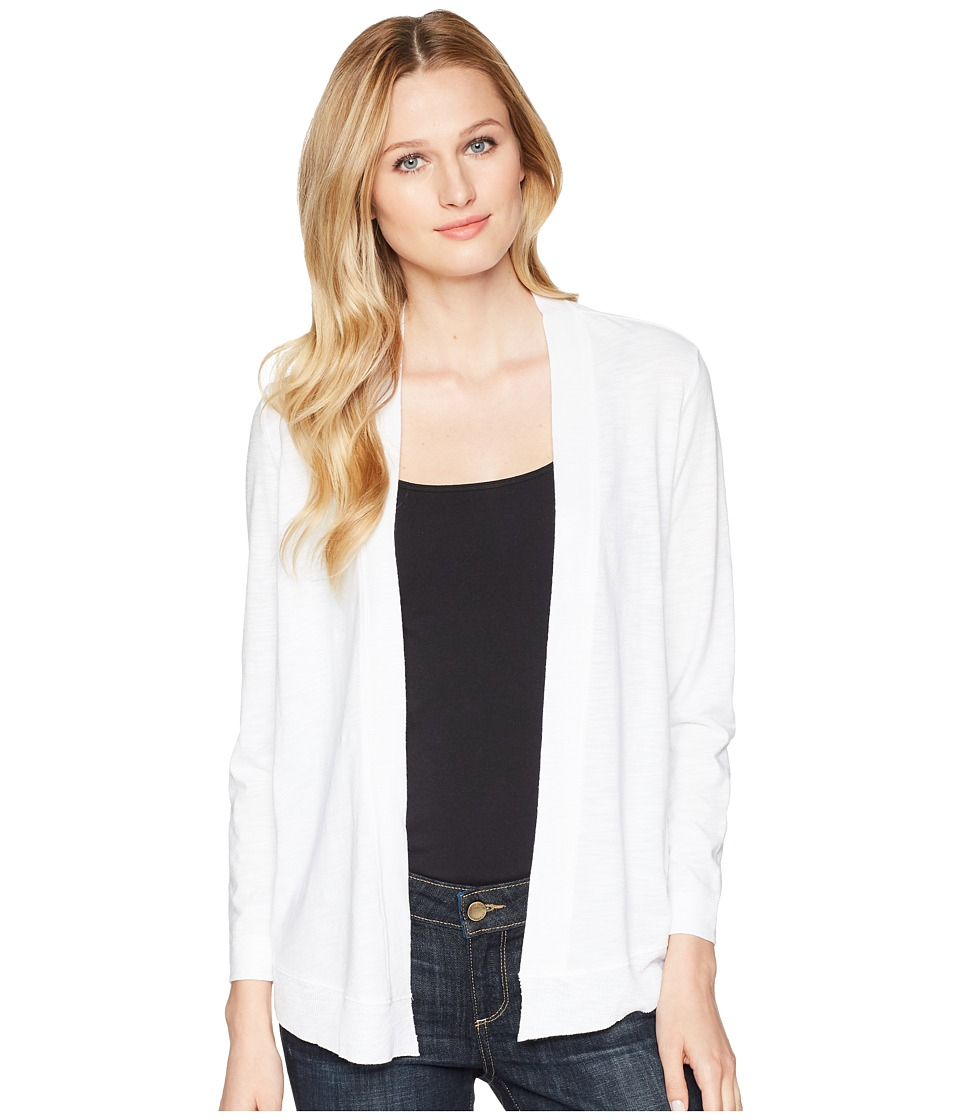Lilla P 3/4 Sleeve Cardigan (White) Women's Sweater
