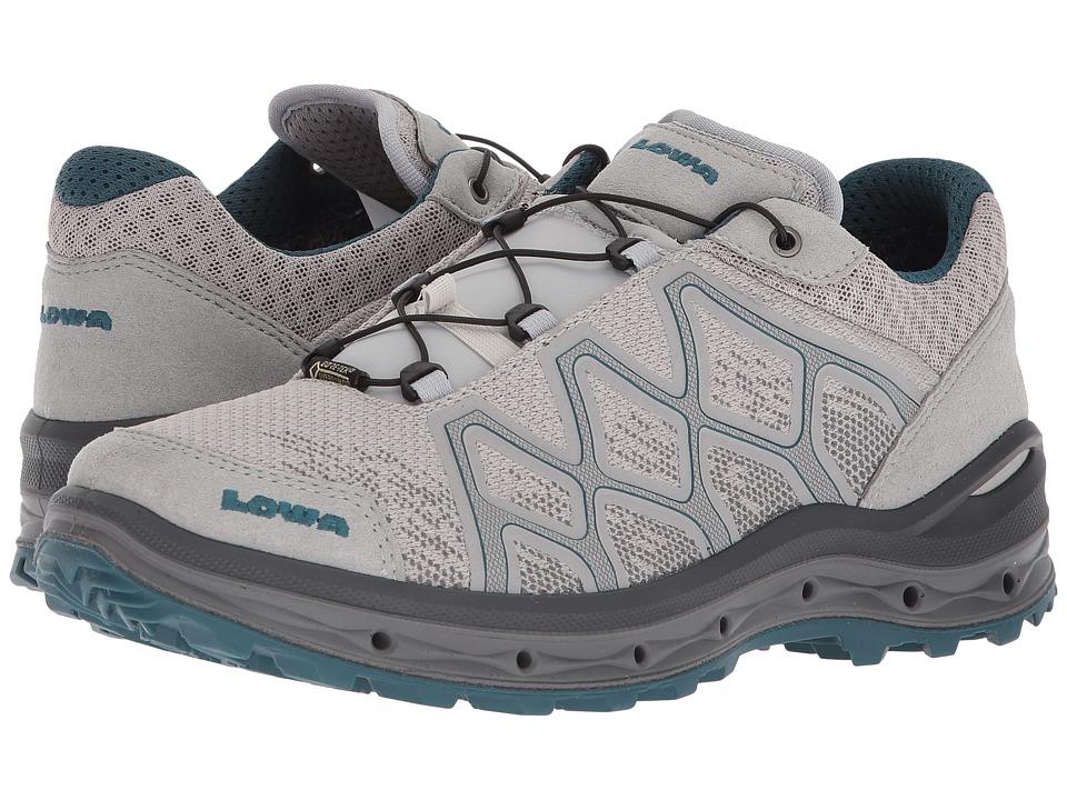 Lowa Aerox GTX Lo Surround (Light Gray/Petrol) Women's Shoes
