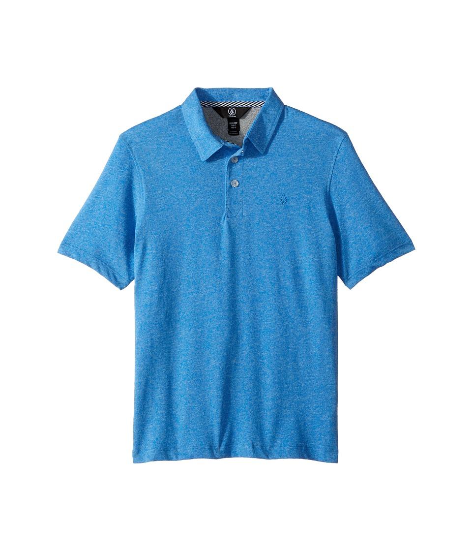 Volcom Kids - Wowzer Polo (Big Kids) (Free Blue) Boys Short Sleeve Pullover