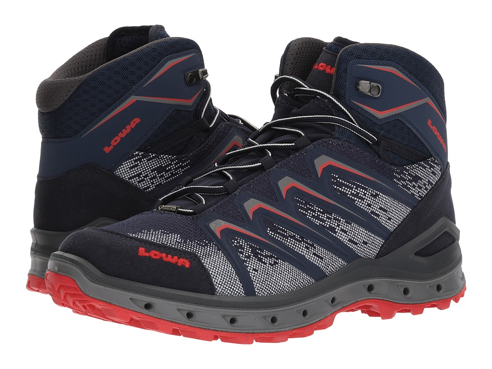 Lowa Aerox GTX(r) Mid Surround(r) (Navy/Red) Men
