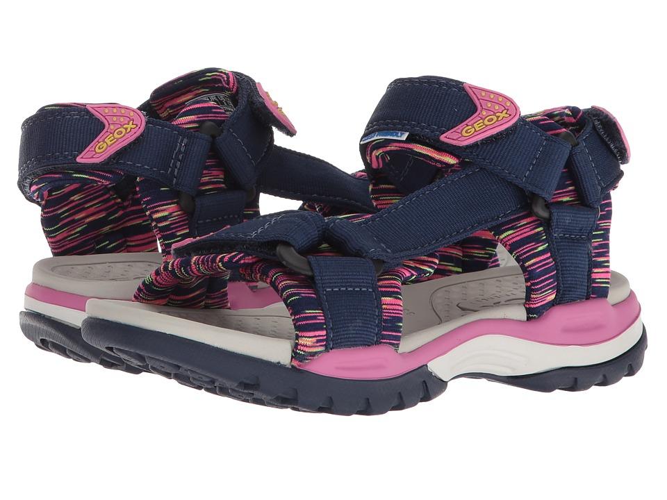 Geox Kids - Borealis 7 (Little Kid/Big Kid) (Navy/Fuchsia) Girls Shoes